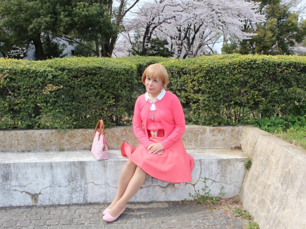 オレンジスカートカーデ桜E(7)
