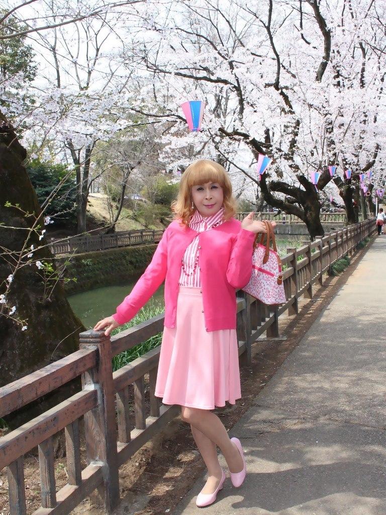 ピンクスカートカーデ桜A(1)