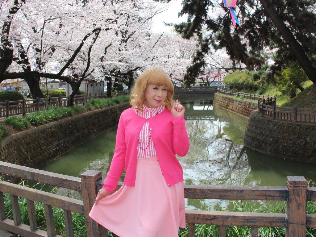 ピンクスカートカーデ桜A(3)