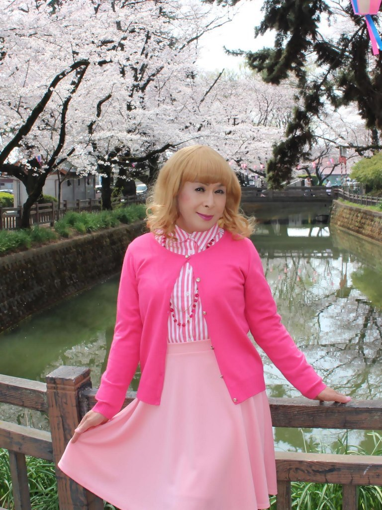 ピンクスカートカーデ桜A(4)