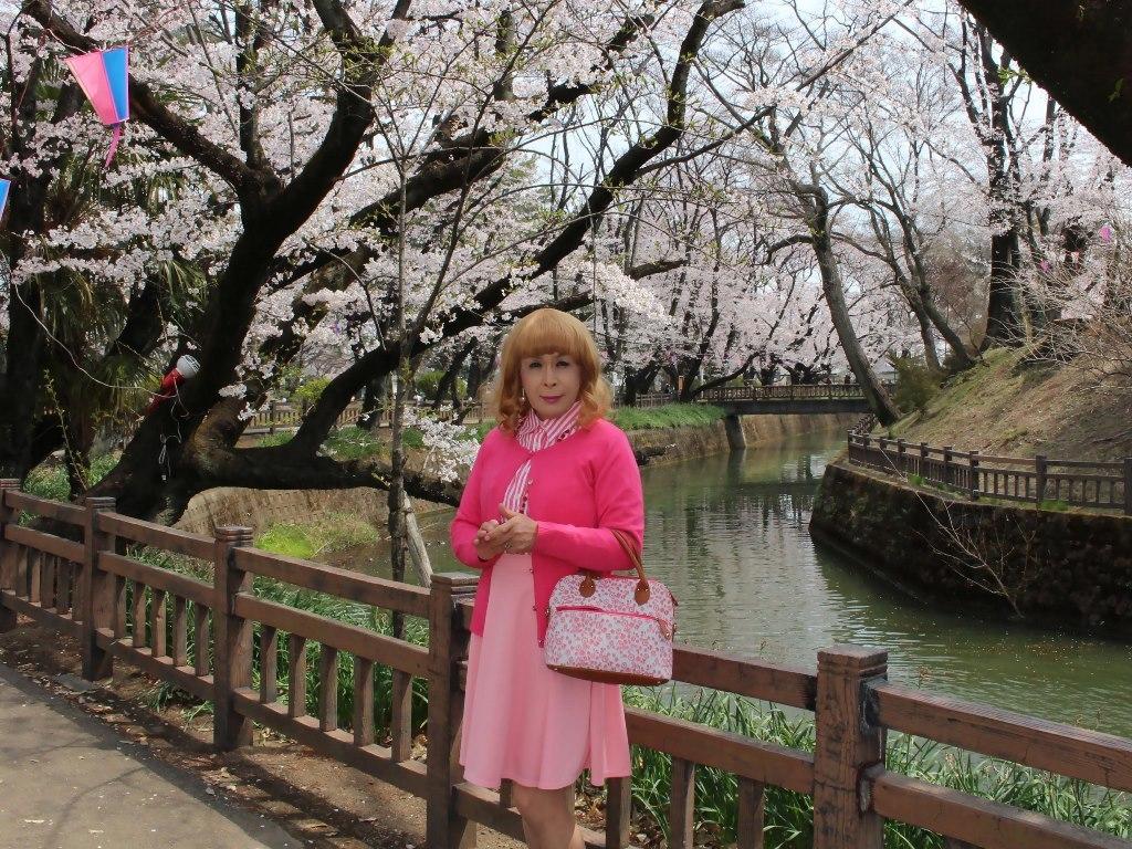 ピンクスカートカーデ桜A(5)