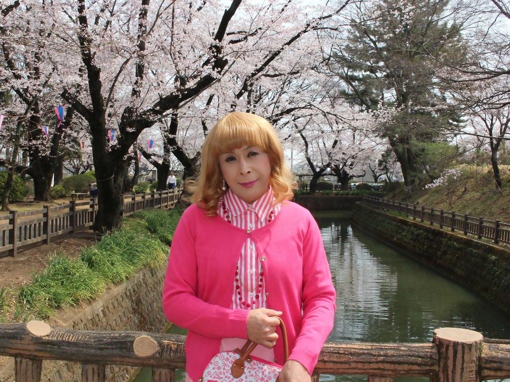 ピンクスカートカーデ桜A(6)