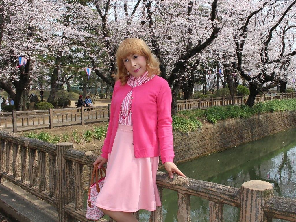 ピンクスカートカーデ桜A(8)