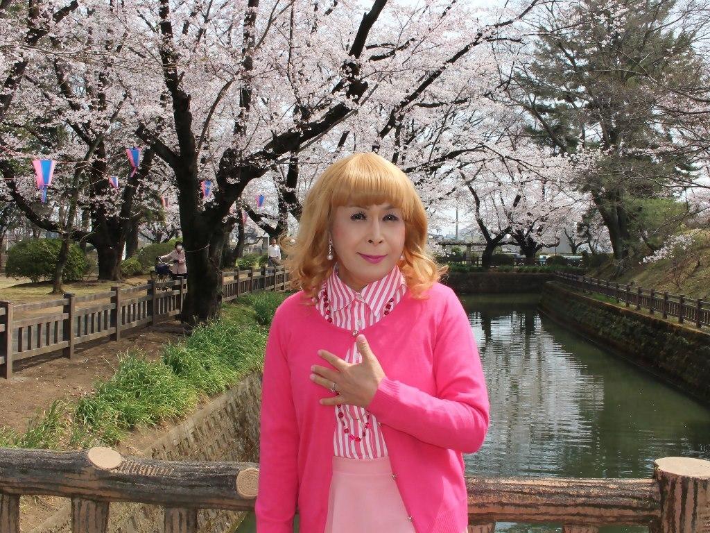 ピンクスカートカーデ桜A(7)