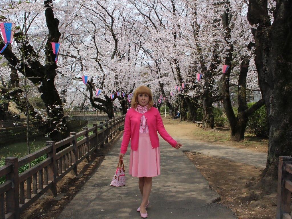 ピンクスカートカーデ桜B(1)