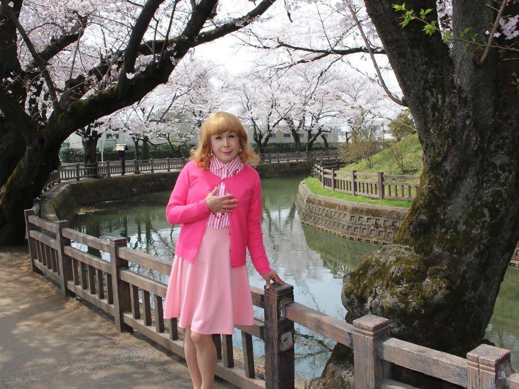 ピンクスカートカーデ桜B(5)