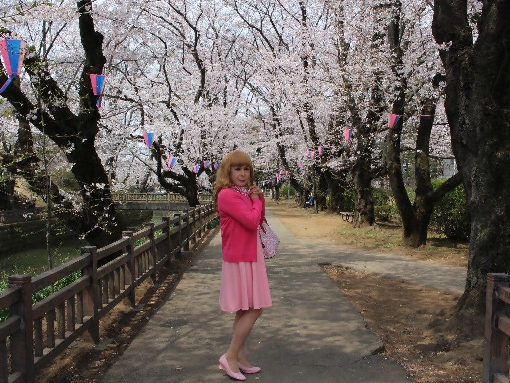 ピンクスカートカーデ桜B(3)