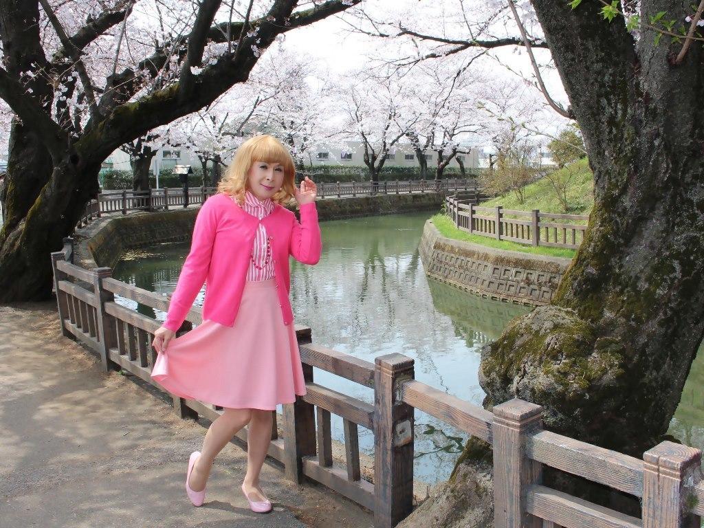 ピンクスカートカーデ桜B(7)