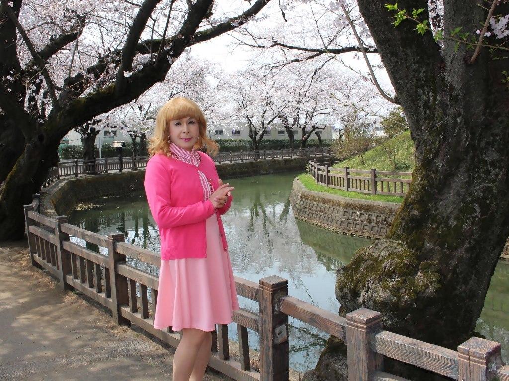 ピンクスカートカーデ桜B(6)