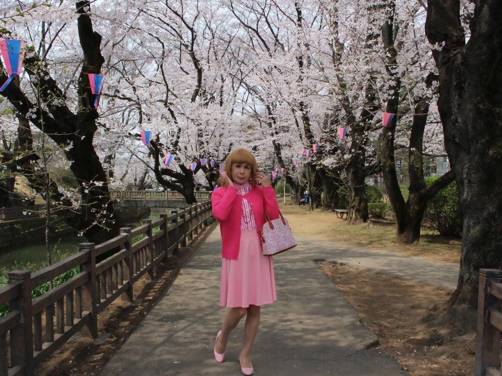 ピンクスカートカーデ桜B(2)
