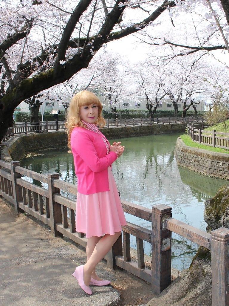 ピンクスカートカーデ桜C(2)