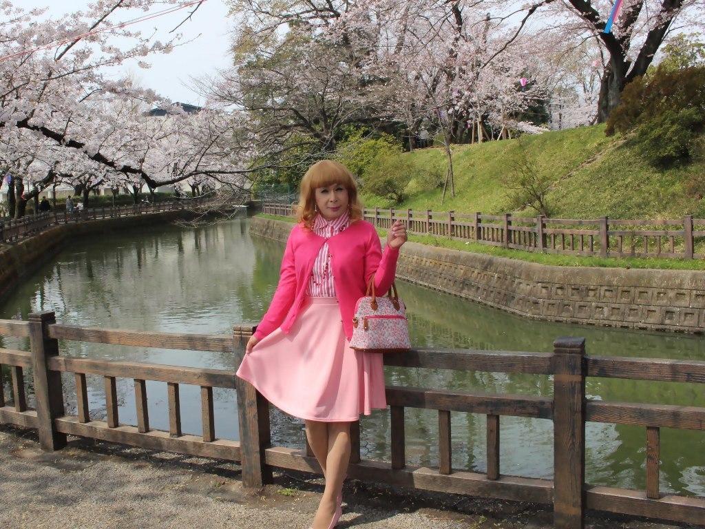 ピンクスカートカーデ桜C(4)