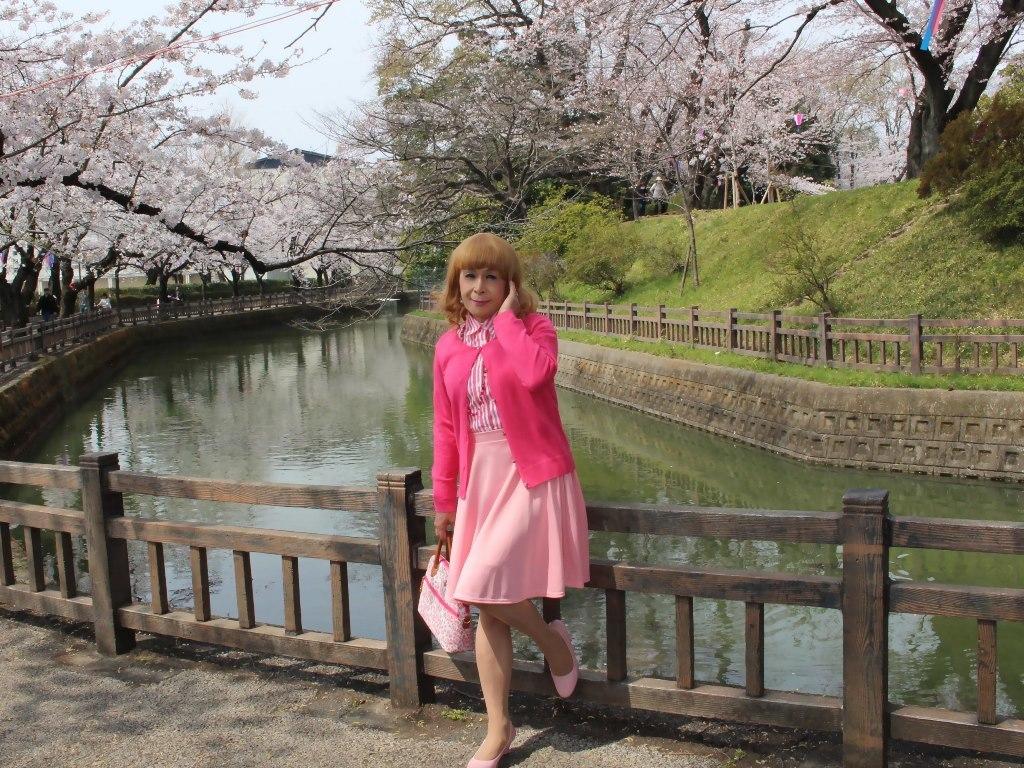 ピンクスカートカーデ桜C(6)