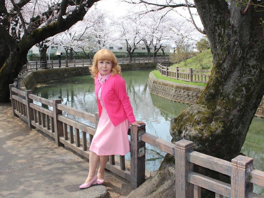 ピンクスカートカーデ桜C(3)