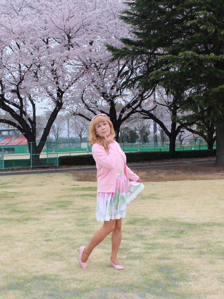 桜とピンクカーデB(1)