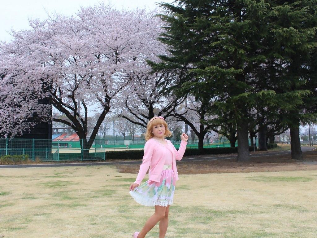 桜とピンクカーデB(5)