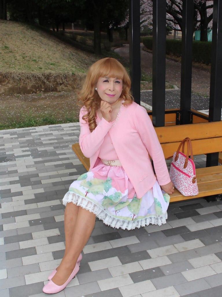 桜とピンクカーデC(4)