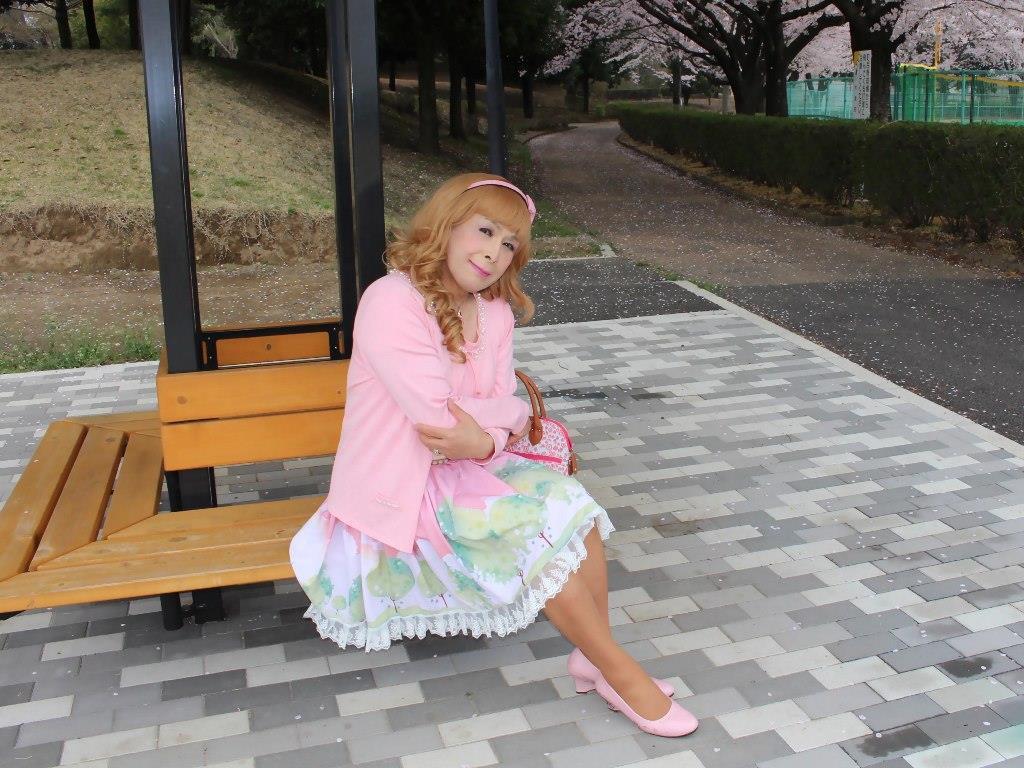 桜とピンクカーデC(6)