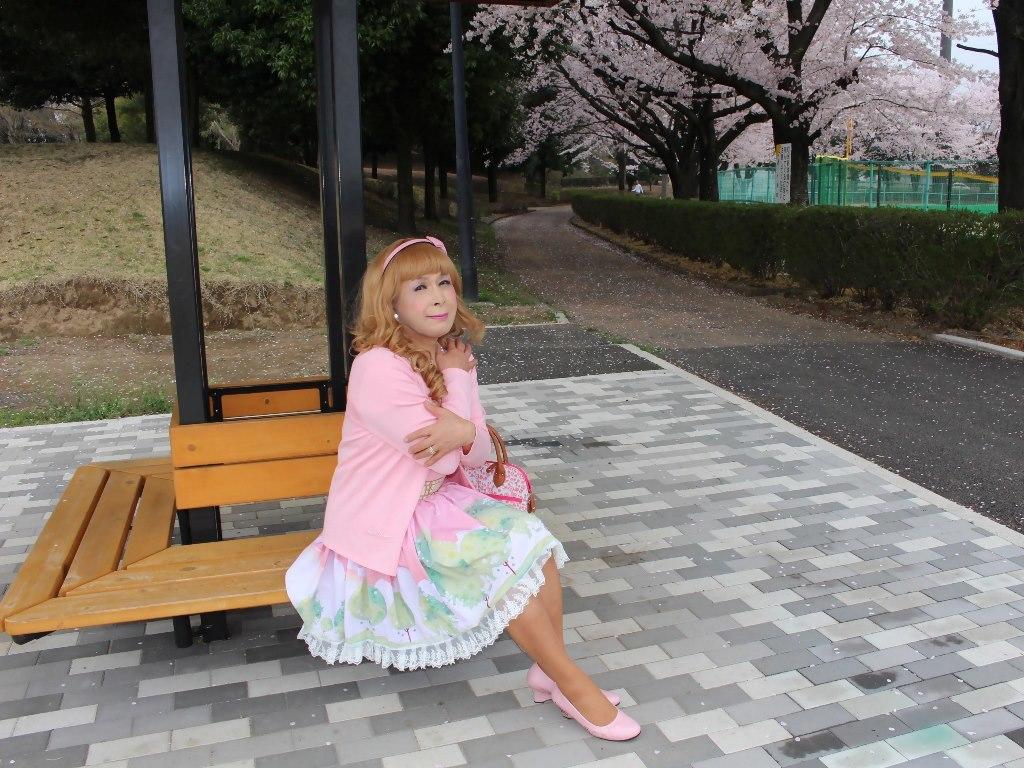桜とピンクカーデC(5)