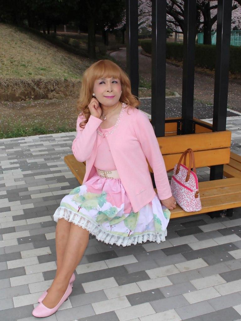 桜とピンクカーデC(2)
