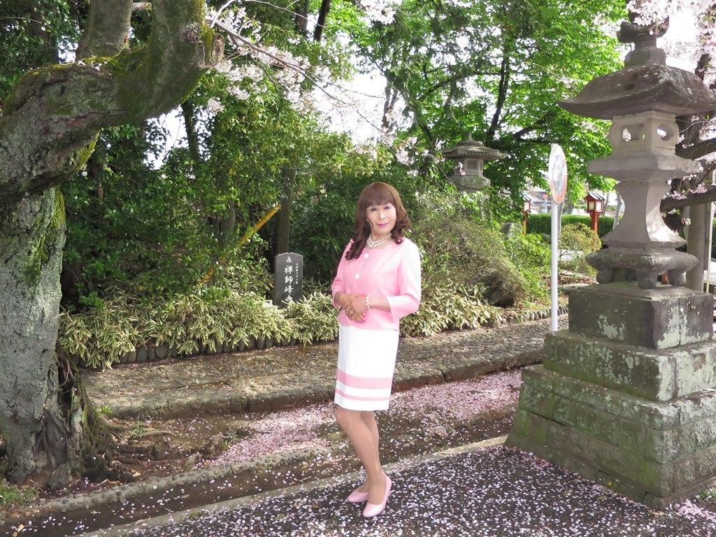 ピンクスーツ寺院前(5)
