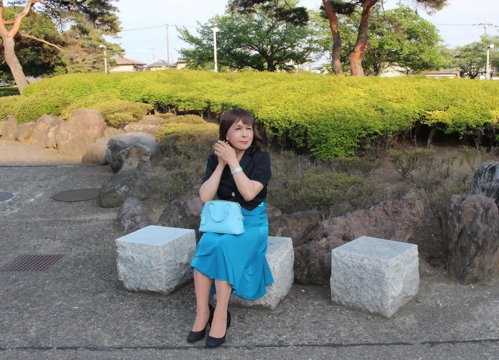青胸元スパンコールドレスA(6)