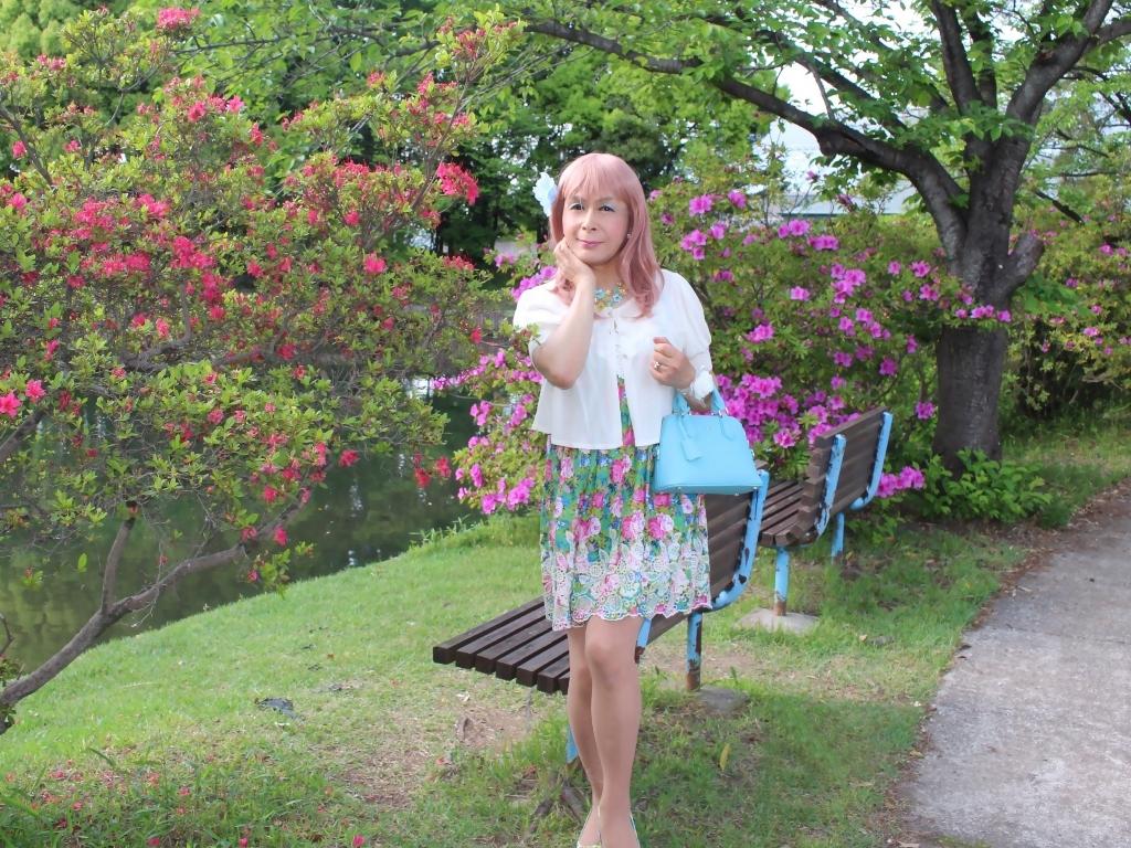 花柄ミニ夏ワンピA(5)