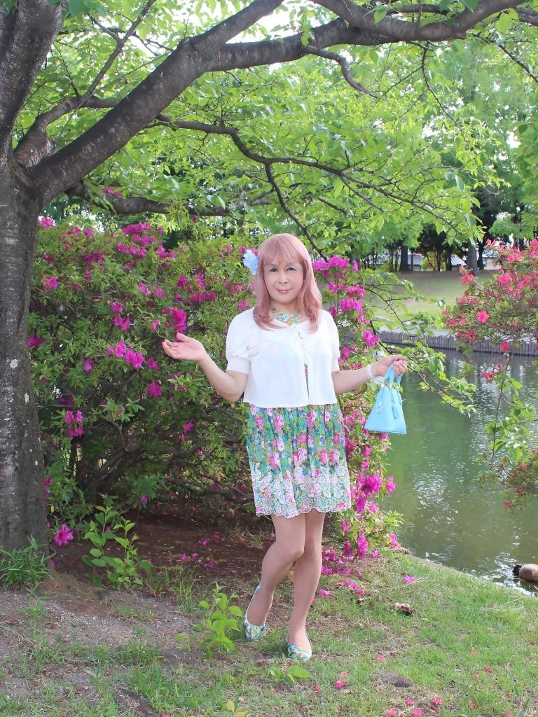 花柄ミニ夏ワンピA(2)