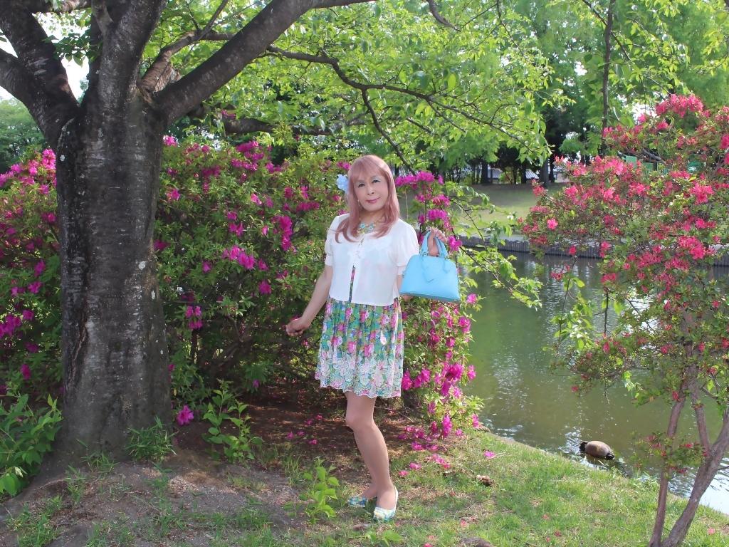 花柄ミニ夏ワンピA(4)