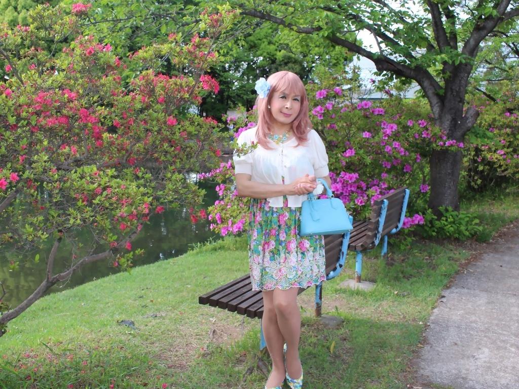 花柄ミニ夏ワンピA(6)