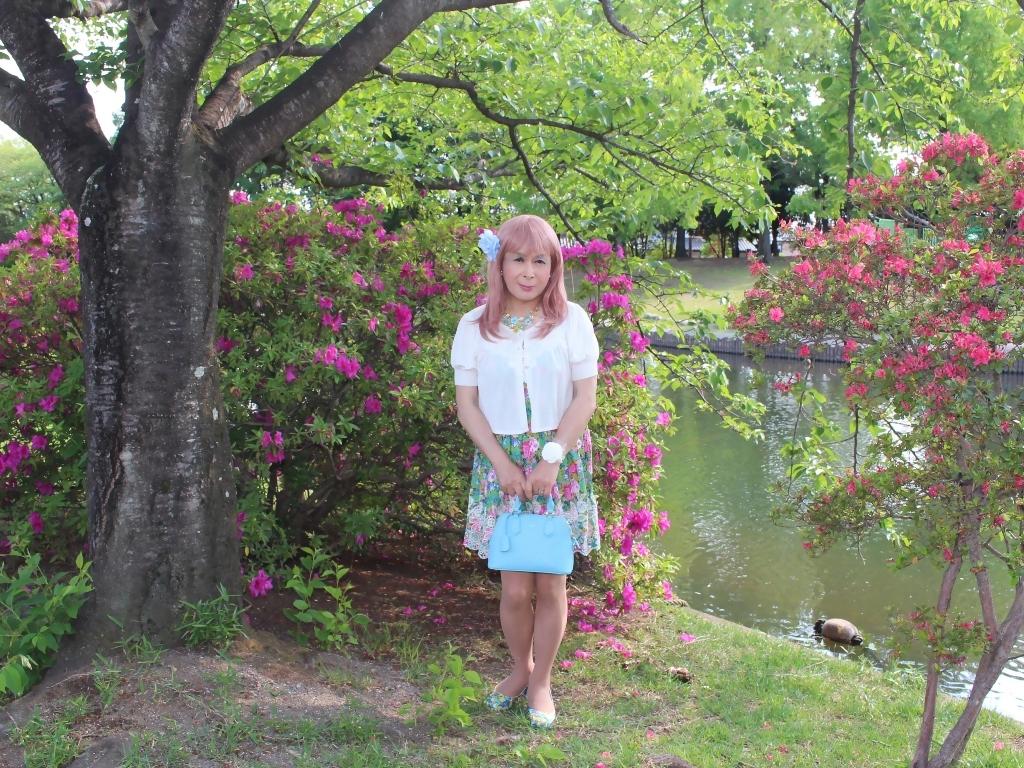 花柄ミニ夏ワンピA(3)