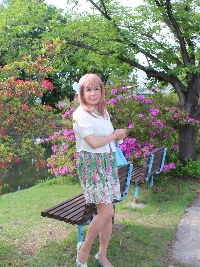 花柄ミニ夏ワンピA(7)