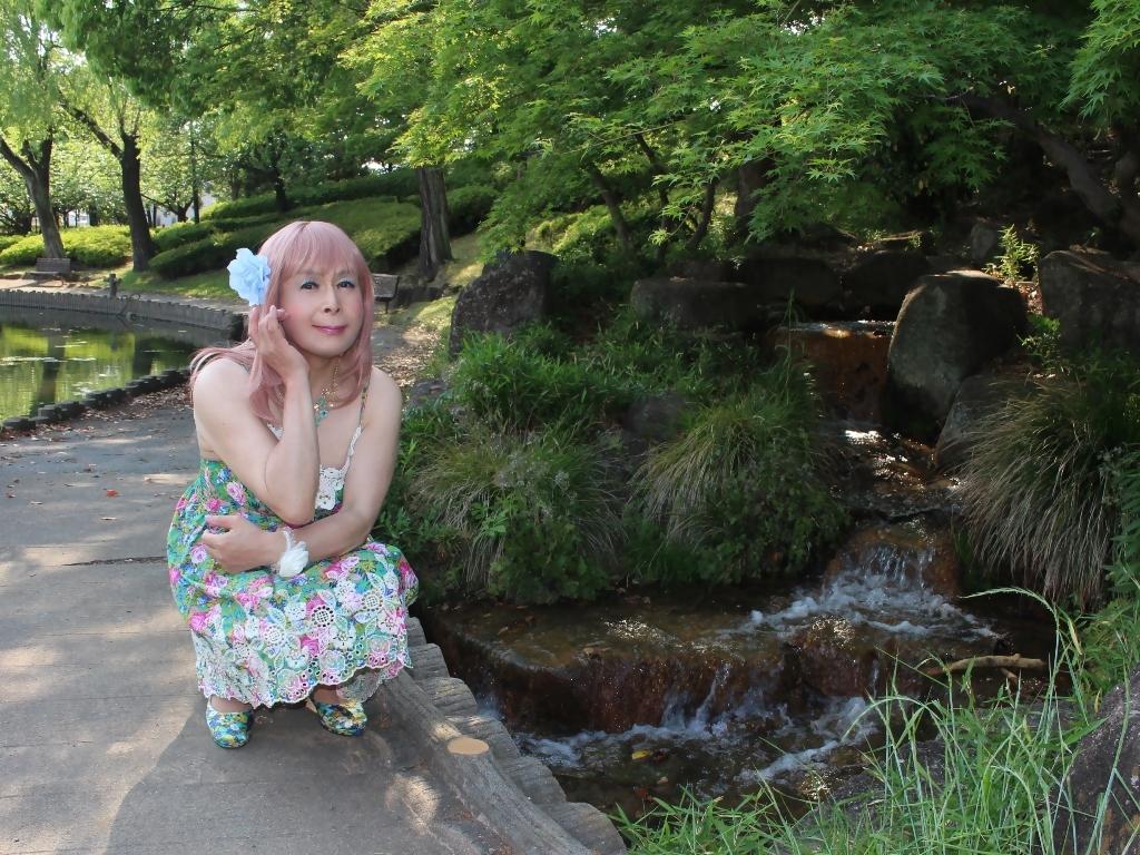 花柄ミニ夏ワンピD(7)