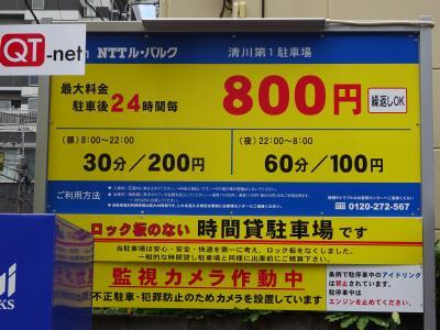 2017最大料金800円!山谷のコインパーキング