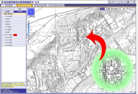 名古屋市都市計画基本図S53-S57