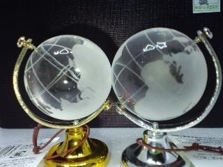 グローブオブジェ 金銀地球儀