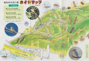 福島市小鳥の森ガイドマップ