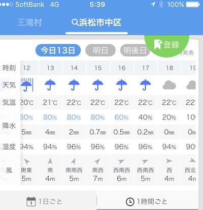 4 行き先の天気IMG_4536