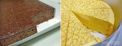 ケーキのアップ