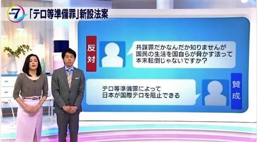 NHK共謀罪反対知りませんが