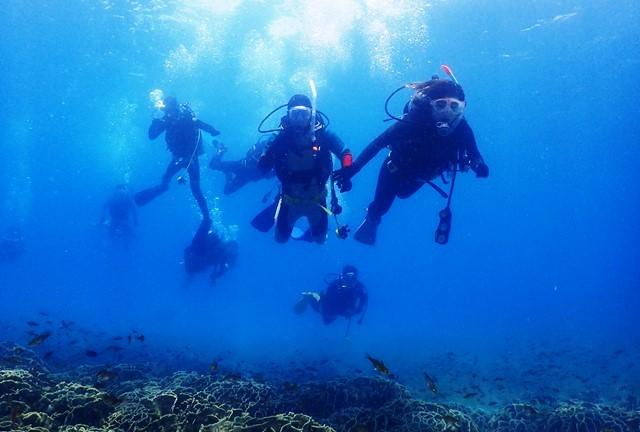 講習生のダイビングweb