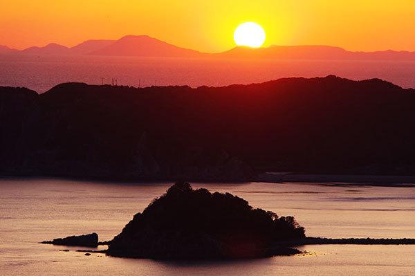 淡路島南部の夕景
