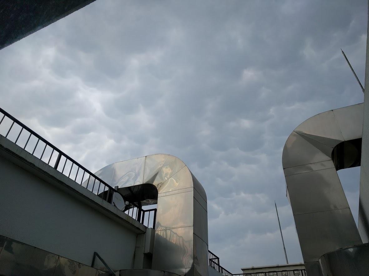 東京都心-目黒区駒場で見られた乳房雲 2017年6月16日