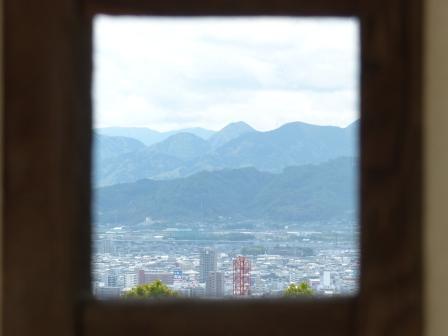 お城山 狭間から見える景色