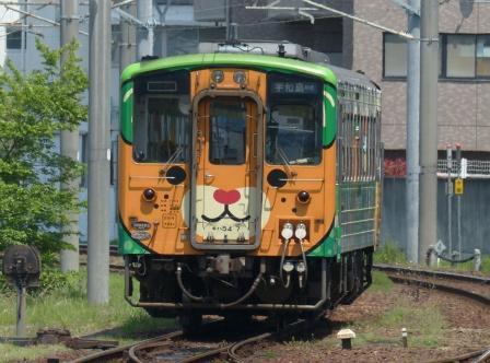 JR松山駅 キハ54形 (みきゃんラッピング)
