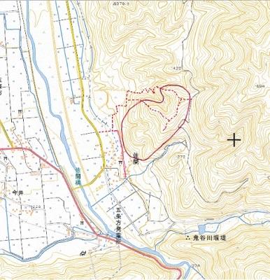佐開城跡位置図