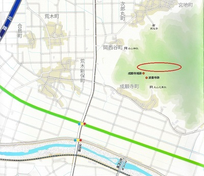 成願寺城位置図