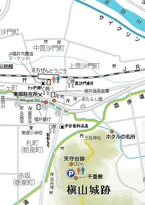 東郷槇山城跡位置図