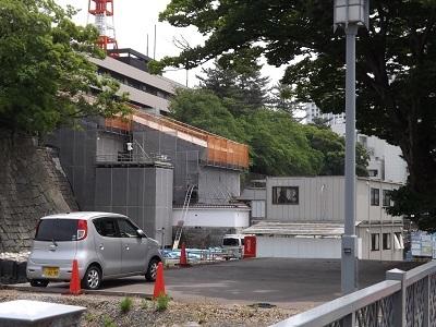 福井城山里口御門復元工事見学会2017年6月 (1)