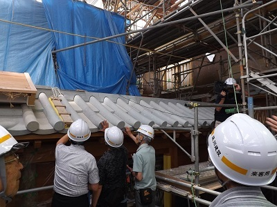 福井城山里口御門復元工事見学会2017年6月 (5)